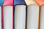 Vintage books with colored spines. — Stock Photo