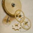 Vintage clock mechanism with gears — Stock Photo #63288899