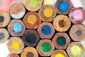 Multicolored vintage pencils — Stock Photo
