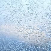 Frozen pattern on window — Stock Photo