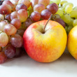 Apples and grapes close-up — Stock Photo #63290733