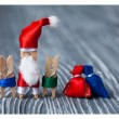 Santa Claus with kids and gifts — Stock Photo #63294507