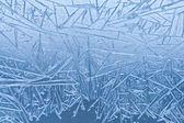 Frozen window background — Stock Photo