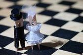 Clothespins: romantic couple — Stock Photo