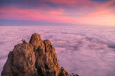 Magic sunset clouds in Crimea. Crimea travel. — Stock Photo