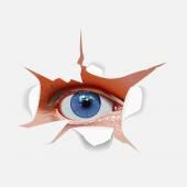 Blue eye for paper — Foto Stock