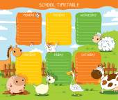 Timetable farm — Stock Vector
