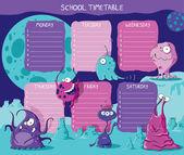 Timetable aliens — Stock Vector