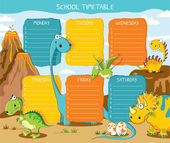Timetable dinosaurs — Stock Vector