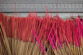 Closeup of group of unused incense sticks — Stock Photo