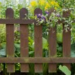 Wooden fence at a garden — Stock fotografie #62764629
