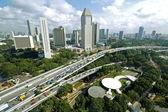 Traffic jam in Singapore — Stockfoto