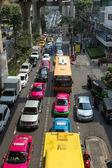 Horrific traffic jam in Bangkok, Thailand — Stock Photo
