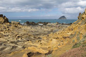 Special rocky terrain and rock formations in Keelung — Stock Photo