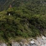 Pagoda high at a mountain in Taroko — Stock Photo #64634493