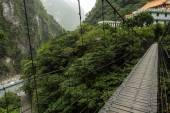 Suspension bridge at the Taroko National Park, Taiwan — ストック写真