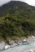 Pagoda high at a mountain in Taroko — ストック写真