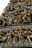 Statues of Hindu Gods outside a temple — Stock Photo
