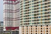 High-rise apartment buildings in Bangkok — Fotografia Stock