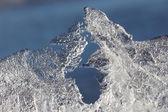 Macro closeup of clear ice in daylight — Foto de Stock