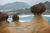 Mushroom Rocks at the Yeliu Geopark in Taiwan — Stock Photo