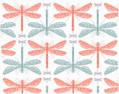 Dragonflies pattern background — Stock Vector