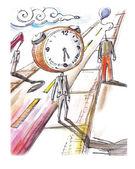 Hurry symbolic illustration — Stock Vector
