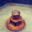 Rusty bolt and nut — Stock Photo #66785149