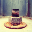 Rusty bolt and nut — Stock Photo #66785151