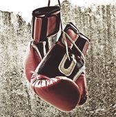 Guantes de boxeo rojos — Foto de Stock