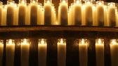 Burning Church candles — ストック写真
