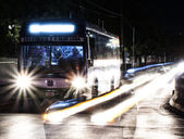 City night bus — Stock Photo