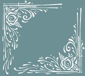 Floral decoration ornaments — Stock Vector