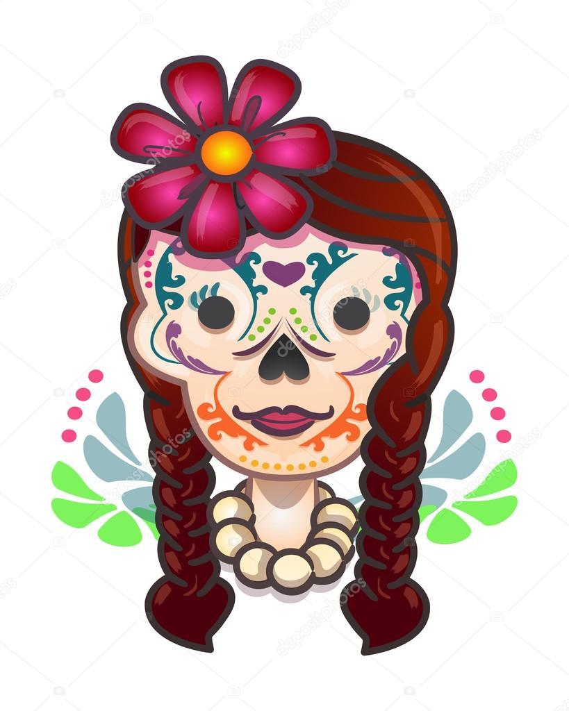 Historieta mexicana catrina tradicional \u2014 Vector de stock 85831024