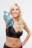 Sports woman with water — Foto de Stock