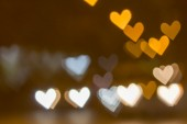 Abstract heart bokeh background, Love Valentine's day background — Stockfoto