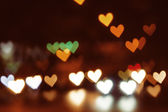 Abstract heart bokeh background, Love Valentine's day background — ストック写真