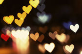 Abstract heart bokeh background, Love Valentine's day background — Stock Photo