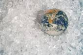 Earth on ice — Stock Photo