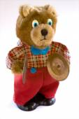 Wind up teddy bear — Stock Photo