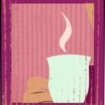Mug with tea or coffee — Stock Vector #66703461