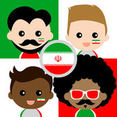 Group of happy Iran's supporters — Stock Vector