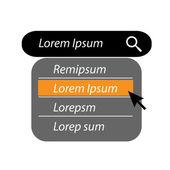 Text v podobě vyhledávací stránky — Stock vektor