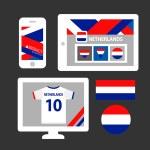 Conjunto de bandeiras de países baixos — Vetor de Stock  #63660001