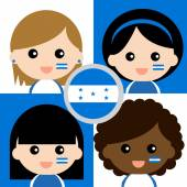 Group of happy Honduras supporters — Stock Vector