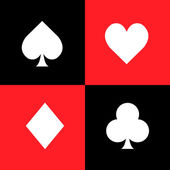 Set of playing card symbols — Stock Vector