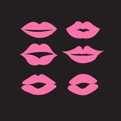 Set of woman's lips — Stock Vector