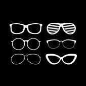 Set of fashionable glasses — Stock Vector