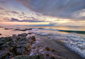 Beautiful beach at sunrise in Samoa — Stock Photo
