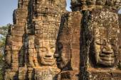 Enigmatic faces of the Bayon — Stock Photo